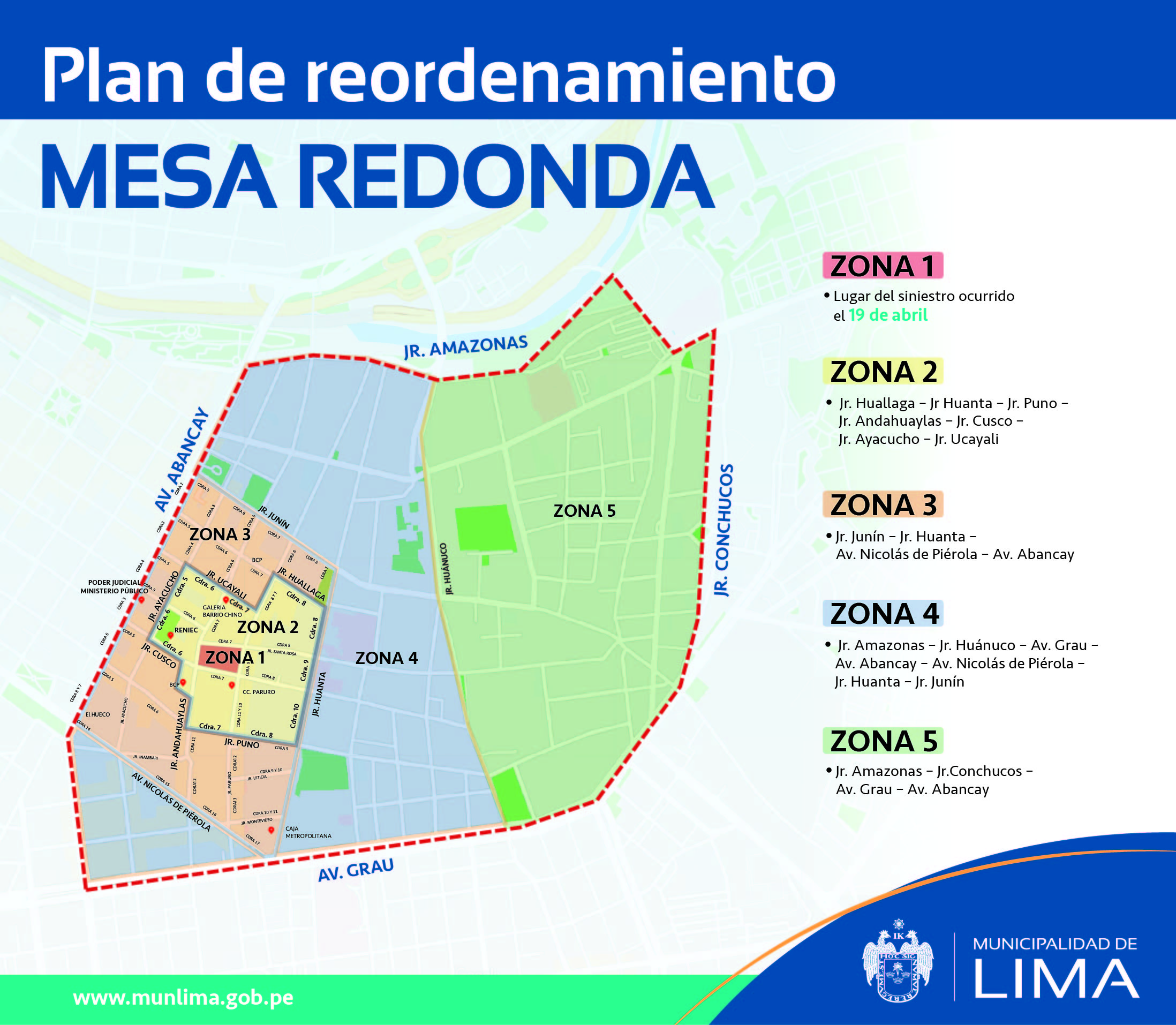 Plan de reordenamiento en Mesa Redonda. (Foto: MML)