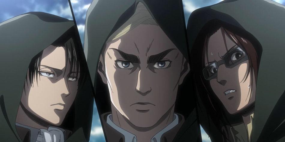Levi en el capítulo 13 de la temporada 3 de Attack on Titan es uno de los pocos que salta a la acción casi de inmediato (Foto: NHK)