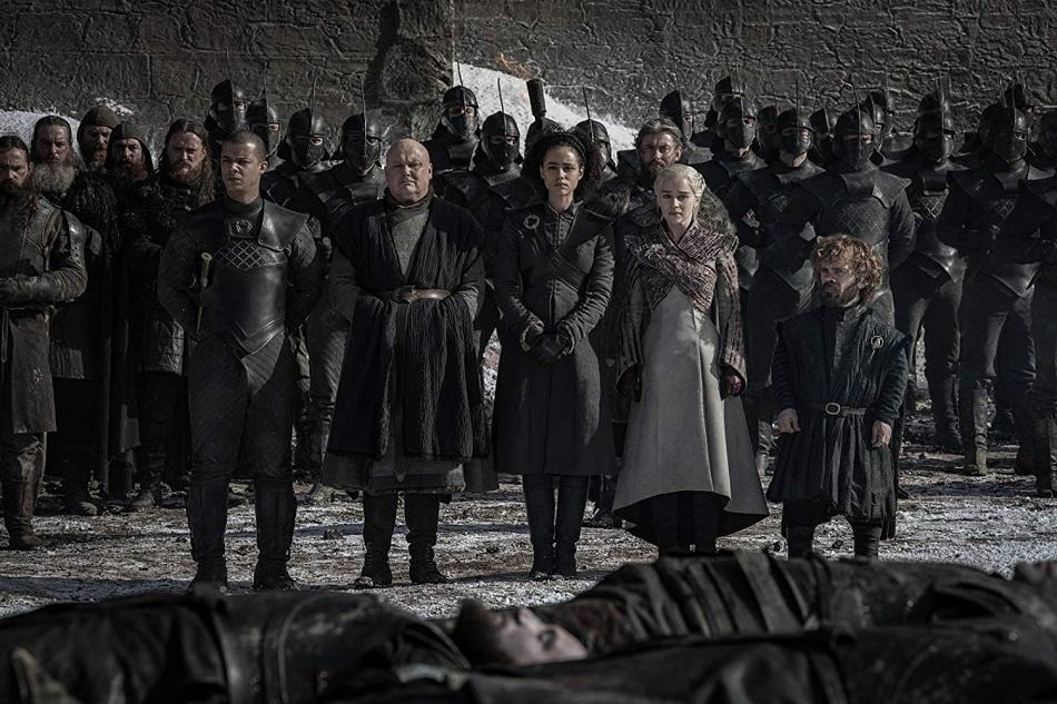 Los sobrevientes de la Batalla de Winterfell frente a los caídos (Foto: HBO)