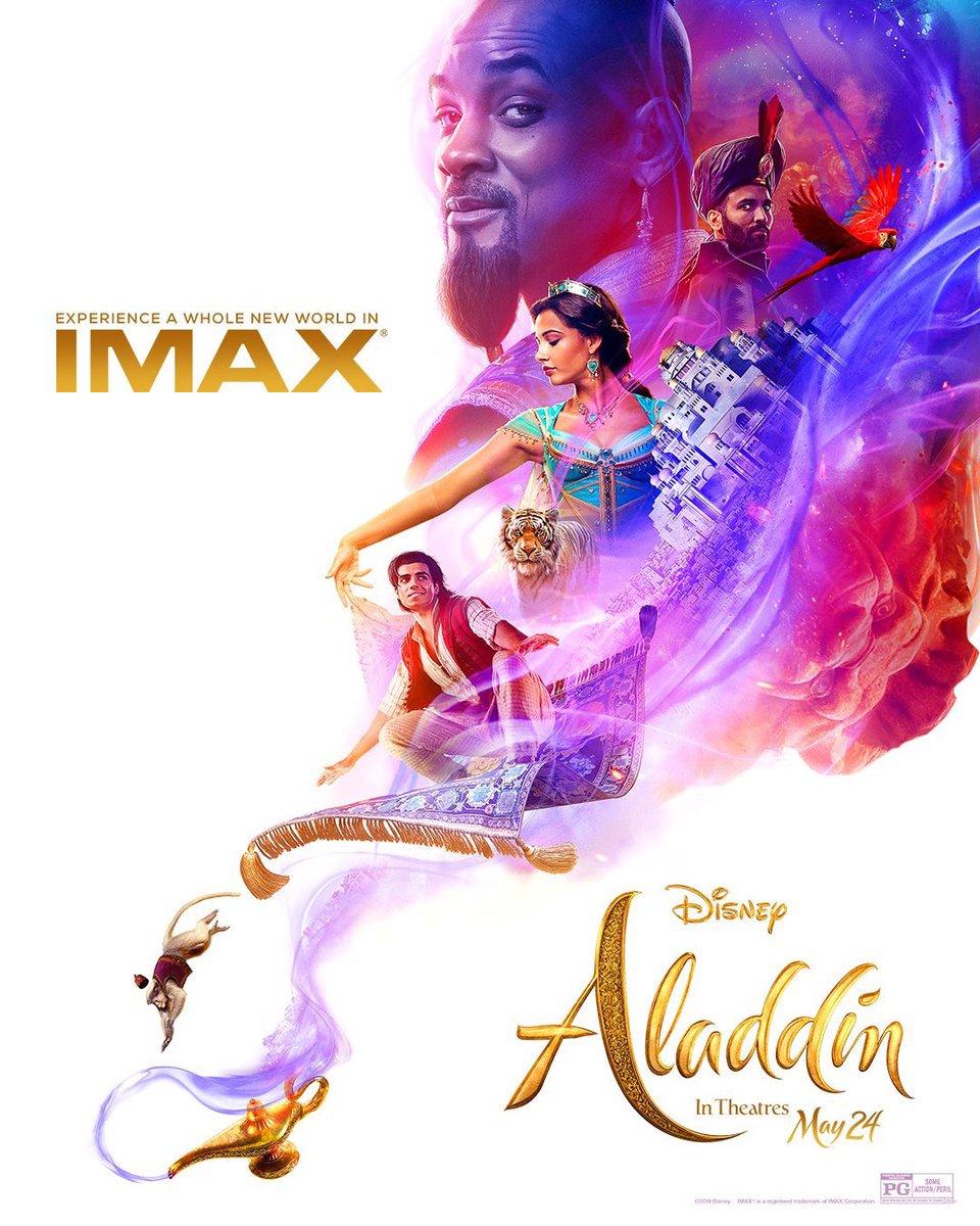 Este es el nuevo afiche de Aladdin para IMAX