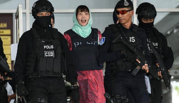 La vietnamita acusada de asesinar al hermanastro del líder norcoreano fue sentenciada a tres años y cuatro meses de cárcel después de aceptar un cargo menor el 1 de abril. (Foto: AFP)
