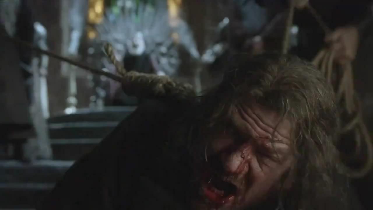 Aerys II contempla la ejecución de Brandon Stark (Escena eliminada de Game of Thrones) (Foto: HBO)