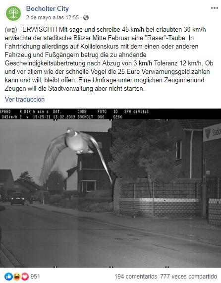 """La foto publicada por el municipio alemán de Bocholter City. (Facebook)<br /> """" title=""""La foto publicada por el municipio alemán de Bocholter City. (Facebook)<br /> """"></div>     <figcaption class="""