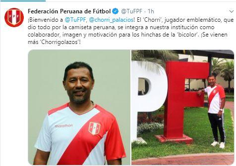El anuncio del nuevo puesto de Roberto Palacios en la FPF.