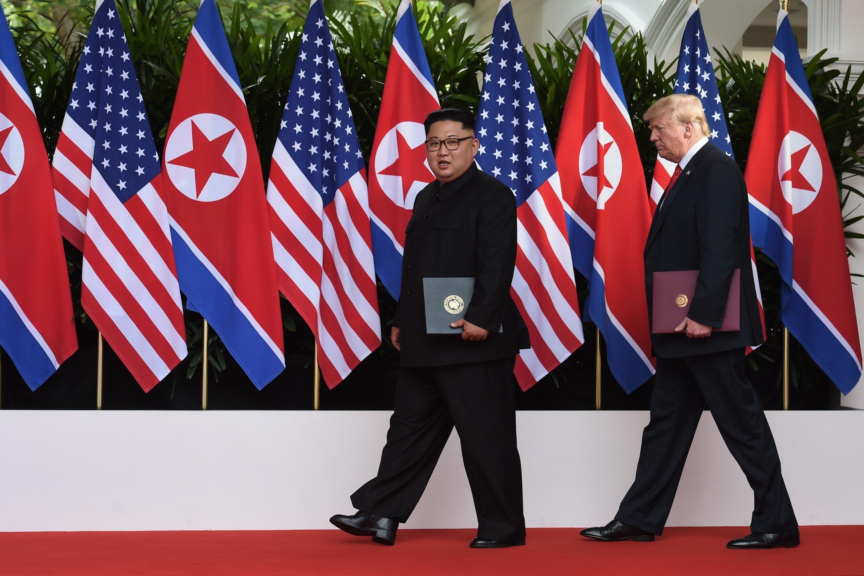 Donald Trump se reunió dos veces con el líder norcoreano Kim Jong-un. (AFP)