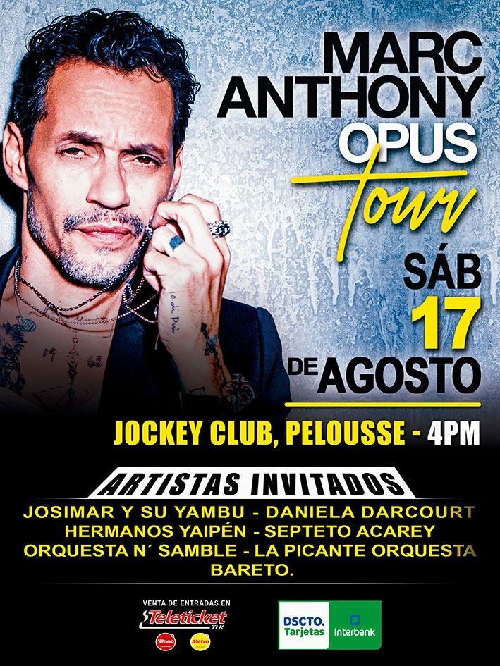 """Marc Anthony regresa a Lima con su nueva gira """"Opus Tour"""". (Foto: Difusión)"""
