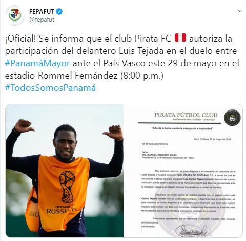 Luis Tejada jugará ante País Vasco su último partido con Panamá.