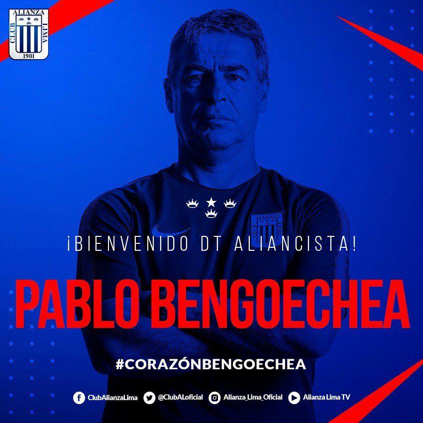 Pablo Bengoechea, nuevo entrenador de Alianza Lima.