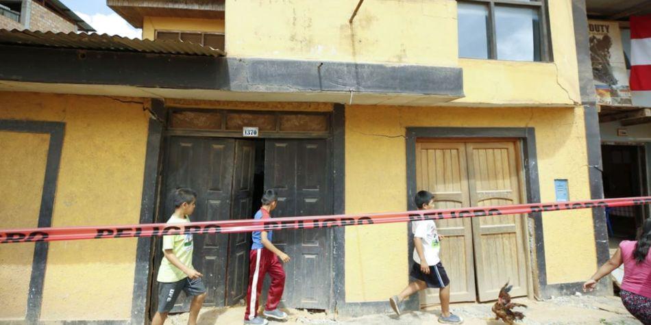 El sismo dejó varias viviendas afectadas. (Foto: Andina)