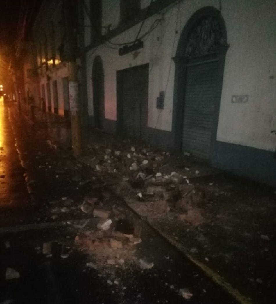 El movimiento sísmico se sintió en varias regiones del país. (Foto: Bomberos)
