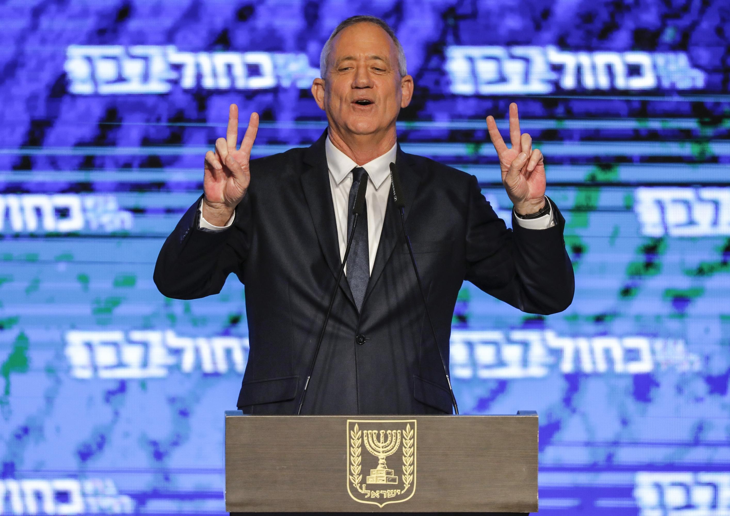 El general israelí retirado Benny Gantz. (Foto: AFP)