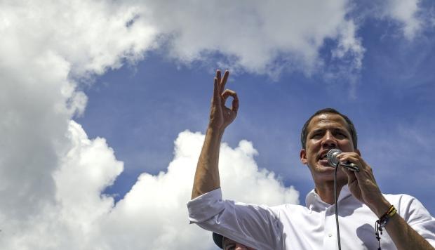 La manifestación opositora fue convocada por Juan Guaidó. (Foto: AFP)