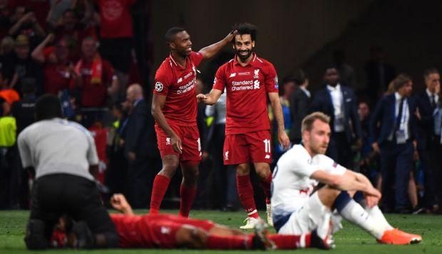 Salah y Origi marcaron los goles de la victoria en Madrid. (Foto: AFP)