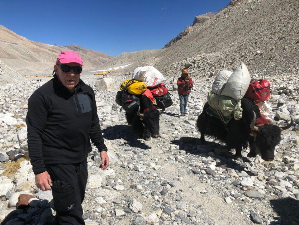 Crystal dijo que había muchos yaks en el Everest. (Ronald Crystal)