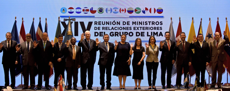Representantes del Grupo de Lima en la Reunión de Ministros de Relaciones Exteriores en la Ciudad de Guatemala. (Foto: AFP)