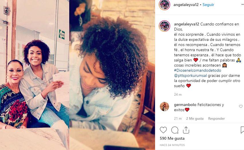 El mensaje de Ángela Leyva tras el anuncio de su nuevo destino. (Instagram)