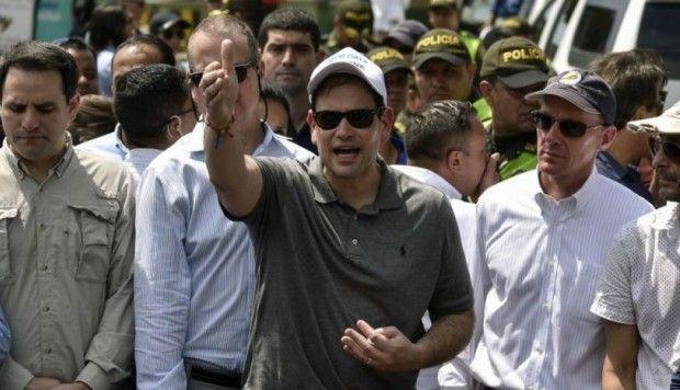 Marco Rubio visitó Venezuela desde donde advirtió que cualquier acción contra Juan Guaidó iría en contra de la Constitución. (AFP)