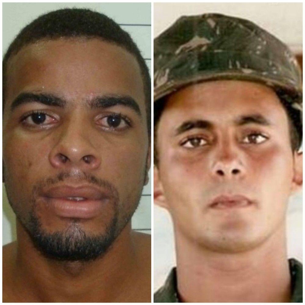 Imagen de dos delincuentes buscados por la policía de Brasil. En la imagen, Elías José dos Santos Silva aparece con un gorro militar. (Foto: Policía Civil)
