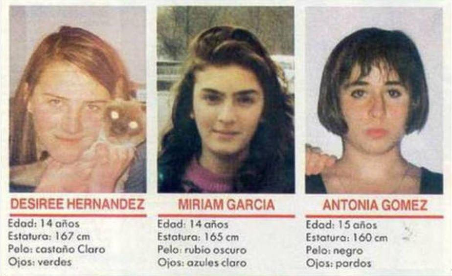 Míriam García, Toñi Gómez y Desirée Hernández fueron las víctimas. Un mes y medio después de desaparecer, sus cuerpos sin vida fueron hallados. (Foto: Netflix)