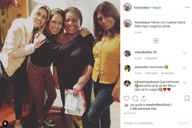 Alondra García Miró aparece en fotos recientes junto a la familia de Paolo Guerrero. (Foto: @lorecatasus)