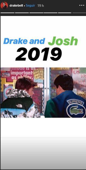 """Drake Bell genera expectativa sobre el regreso de """"Drake y Josh"""" con esta publicación. (Foto: Captura de Instagram)"""