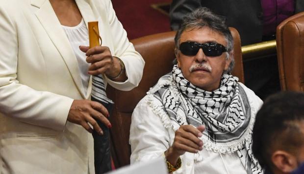 Jesús Santrich asumió el 11 de junio pasado un escaño en la Cámara de Representantes. (Foto: AFP)