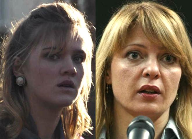 Katharina Nielse en 1986 y 2019