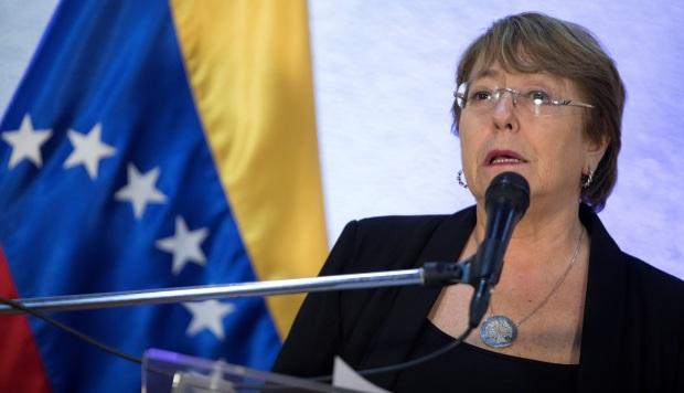 La alta comisionada de Naciones Unidas para los derechos humanos, Michelle Bachelet, visitó Venezuela. (Foto: EFE)