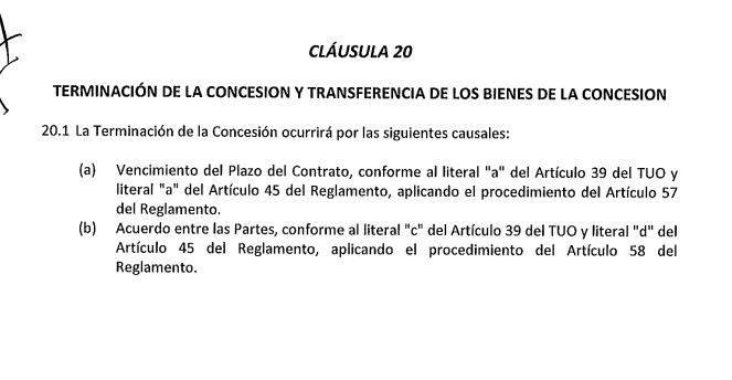 Contrato del Gasoducto.