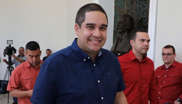 Nicolás Maduro Guerra, hijo del presidente Nicolás Maduro, a su llegada para una sesión plenaria de la Asamblea Nacional Constituyente, en agosto de 2017. (Foto: EFE)