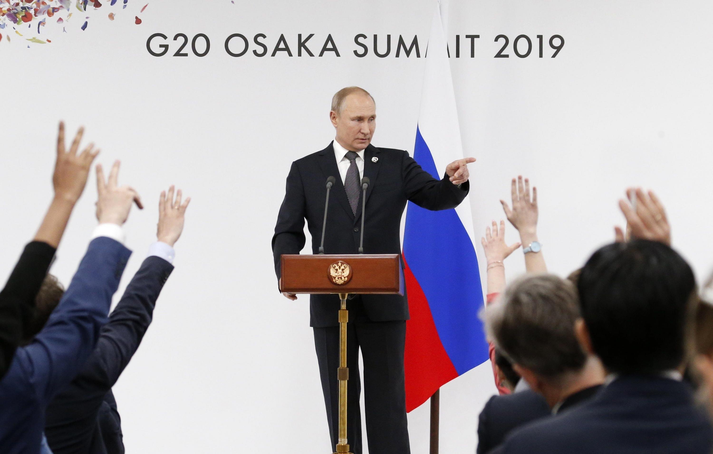 Putin fue interrogado por los periodistas tras la cumbre del G20. (Foto: EFE)