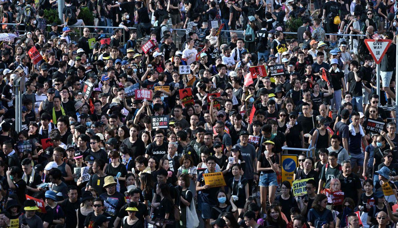 Miles protestaron durante los últimos días en Hong Kong. (Foto: AFP)