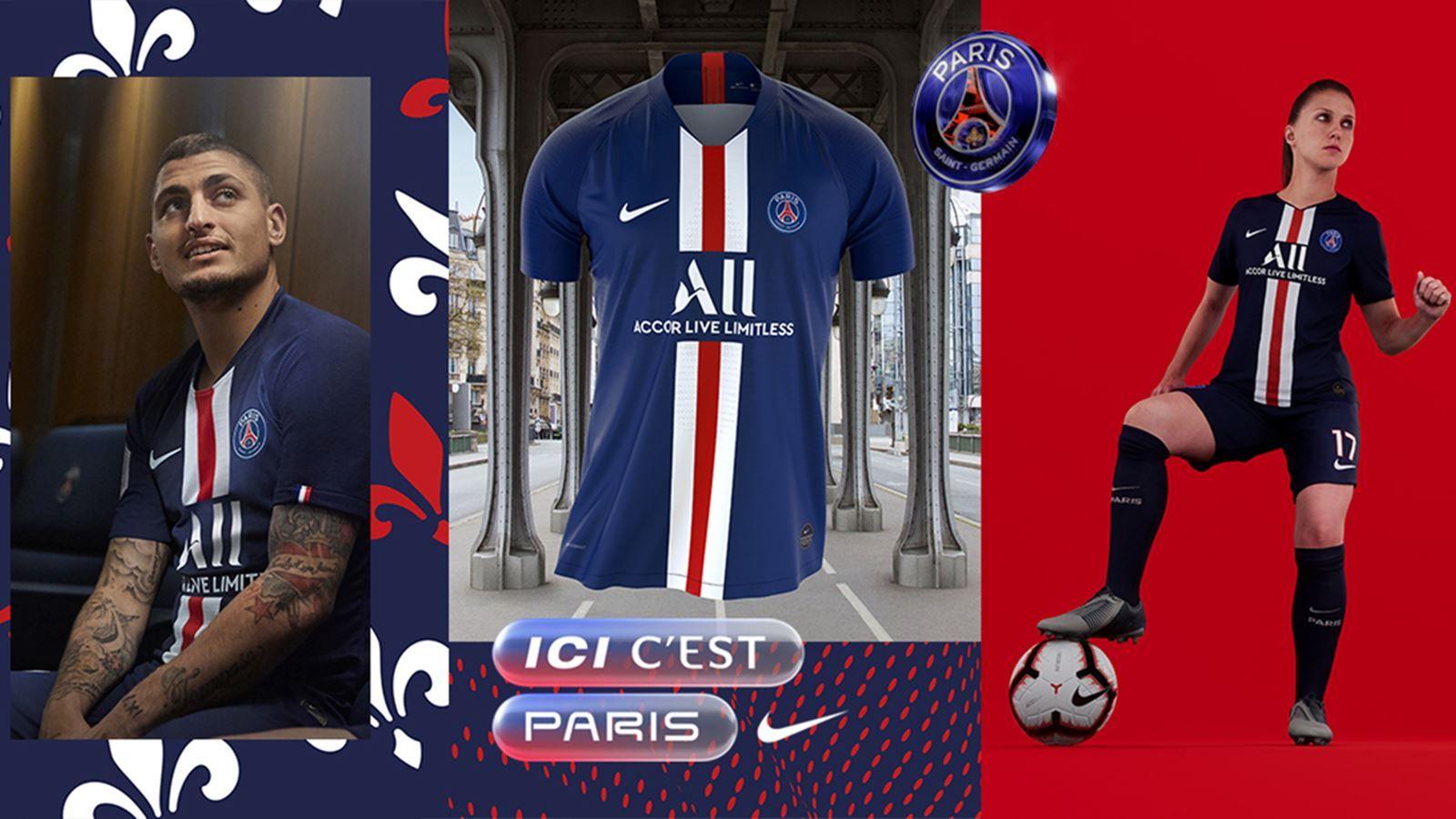 La nueva camiseta de PSG para la temporada 2019-20.