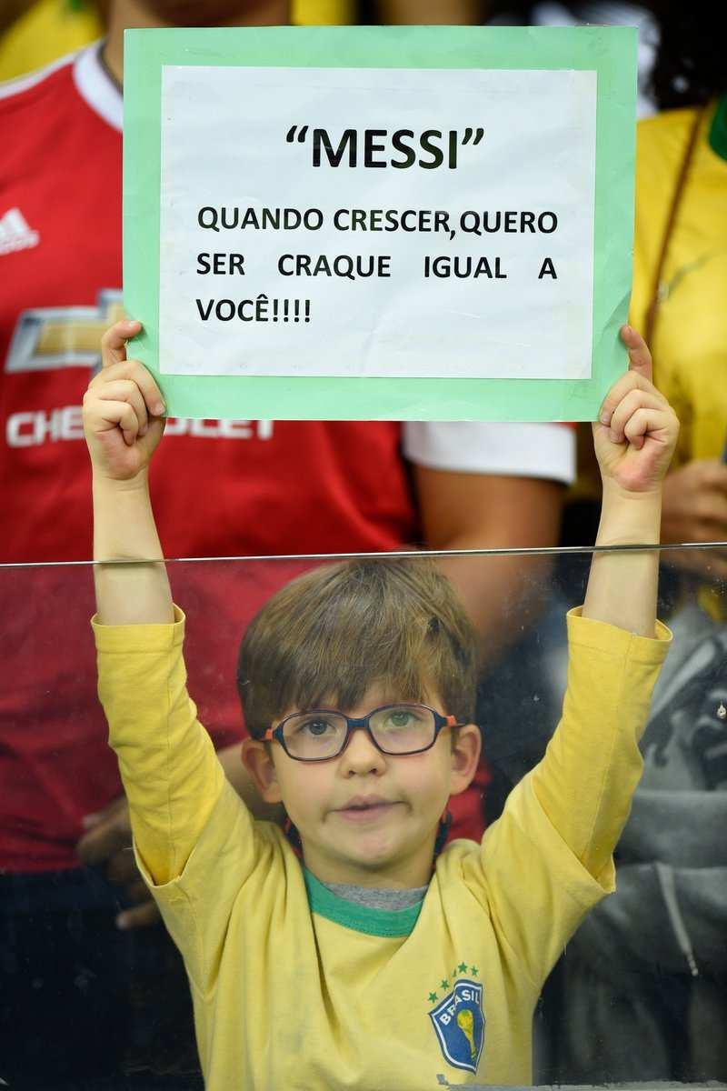 El mensaje dedicado a Lionel Messi. (Foto: Twitter)