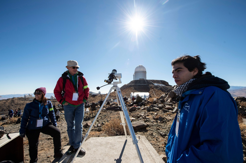 La Higuera fue el lugar donde el eclipse tuvo su mayor duración: 2,36 minutos. (AFP)