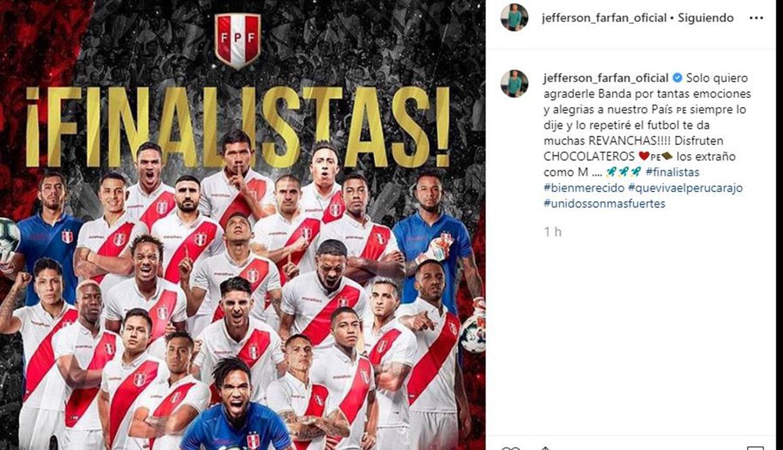 Jefferson Farfán y su mensaje a compañeros de la selección peruana.