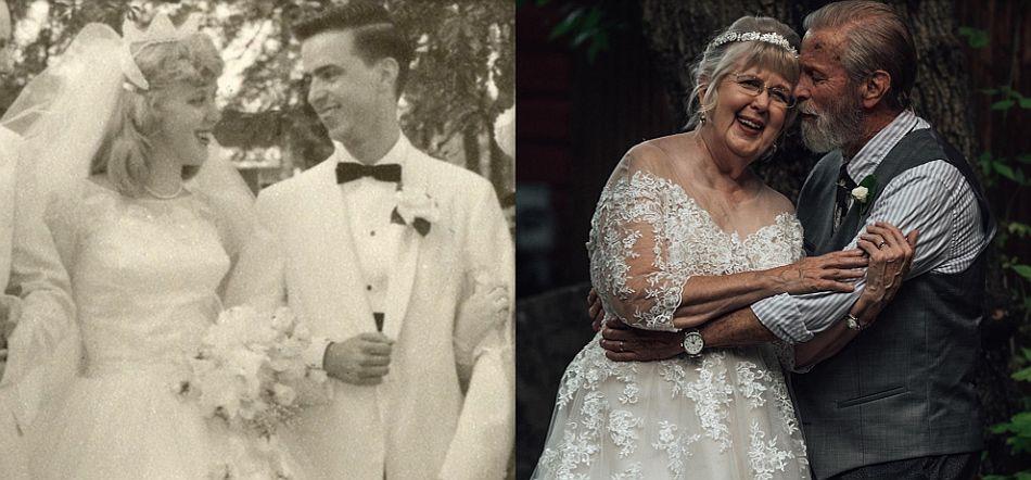 Con mucha planificación y cariño, la nieta logró que ambos lucieran tal cual fue el día de su matrimonio. (Foto: Facebook @Abigail Gingerale Photography)