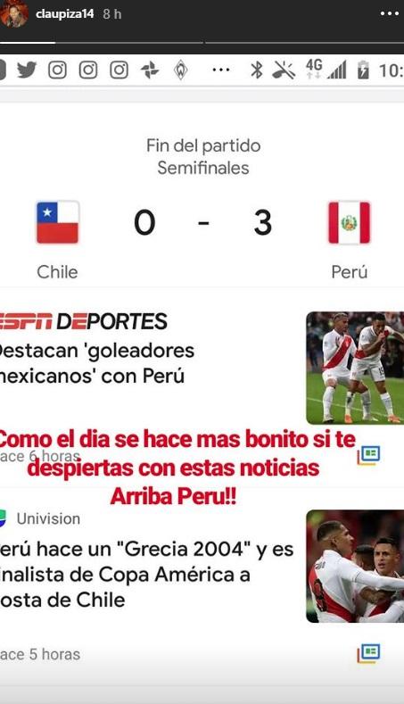 Claudio Pizarro se une a las celebraciones por el papel de la selección peruana en la Copa América. (Foto: Instagram)