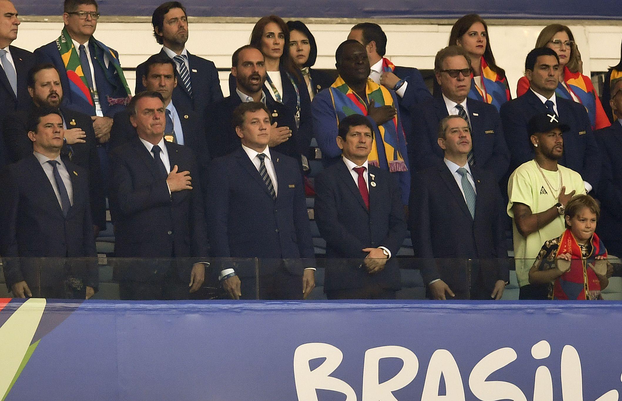 Neymar, presente en la final de la Copa América 2019. (Foto: AFP)
