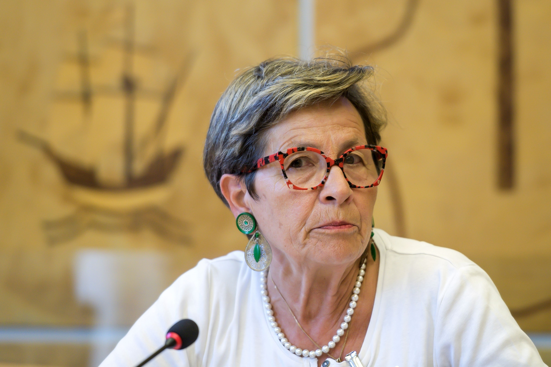 Viviane Lambert, la madre de Vincent Lambert que se encuentra en estado vegetativo desde 2008. (Foto: AFP)