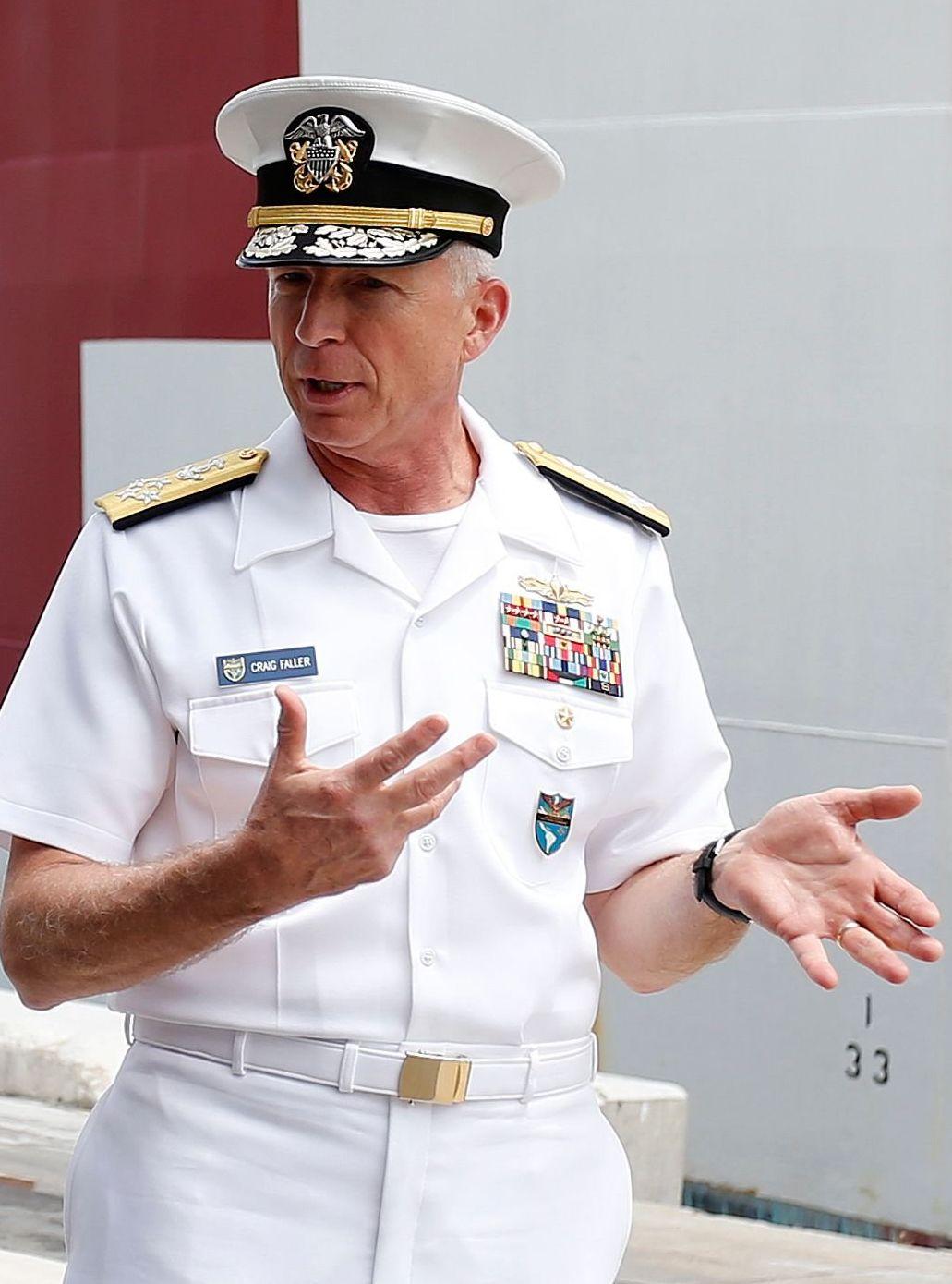 El jefe del Comando Sur de las Fuerzas Armadas de Estados Unidos, el almirante Craig Faller. (AP)