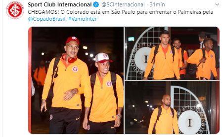 Paolo Guerrero viajó a Sao Paulo para el choque de Internacional ante Palmeiras.