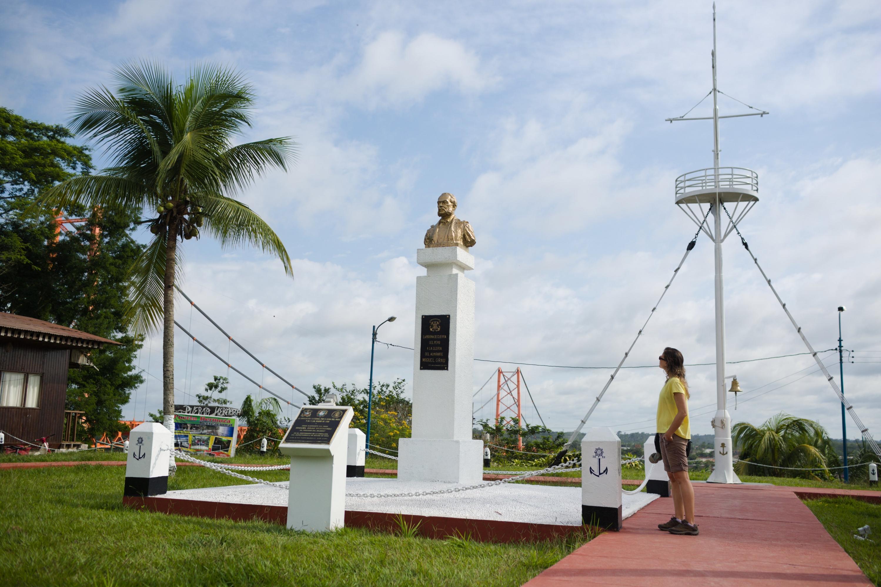 El mirador está cercano a la plaza Miguel Grau, otro de los puntos más visitados de Puerto Maldonado. (Foto: PromPerú)