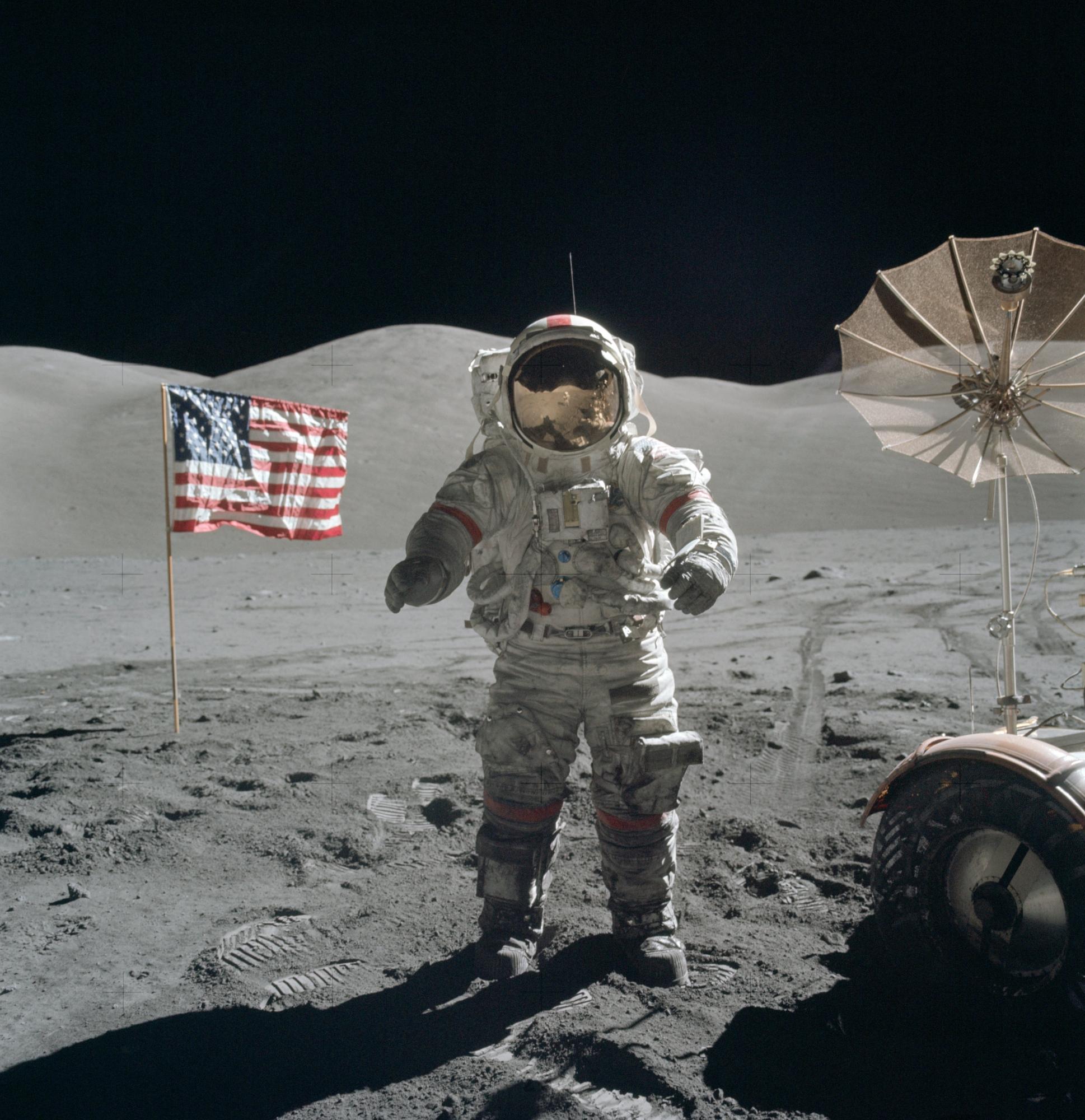 Eugene Cernan en la superficie lunar, 13 de diciembre de 1972. (NASA)