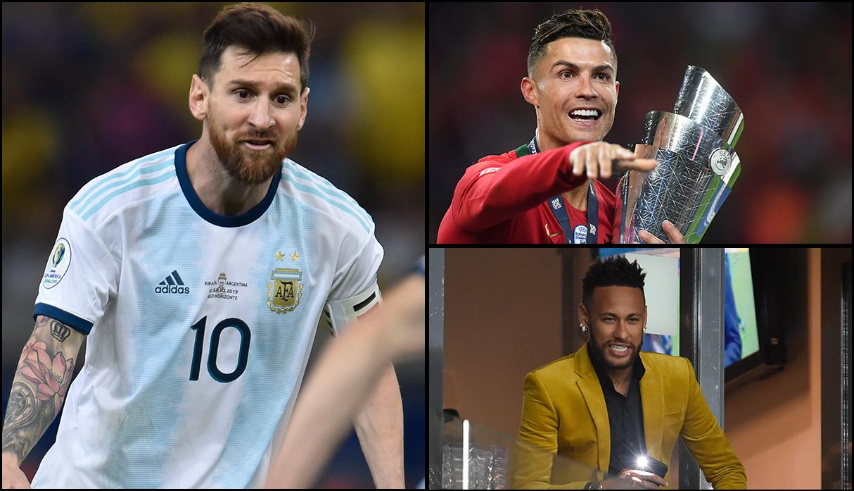 La revista Forbes consideró a los tres futbolistas como los deportistas con mejores ingresos en el 2019. (Fotos: AFP)