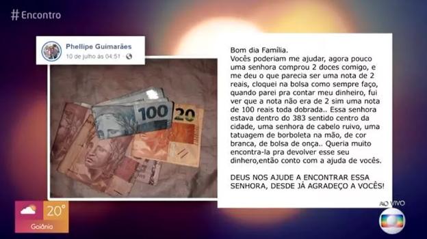 Medios locales esperan ayudar al joven que busca desesperadamente a la señora. (Foto: Captura de video)