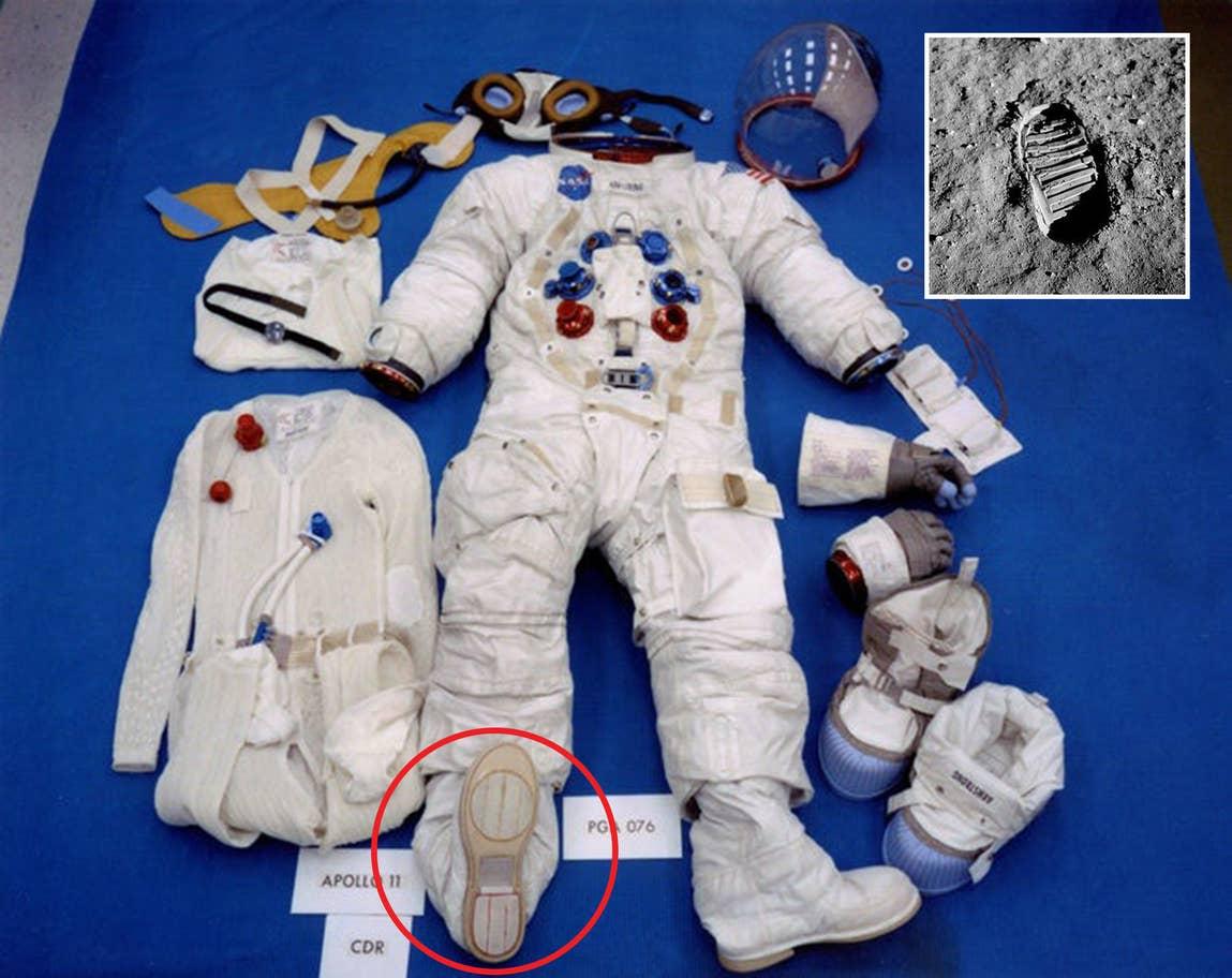 ¿Por qué la pisada de Armstrong no es igual a su calzado? Simple: no era de él la pisada (Foto: NASA)