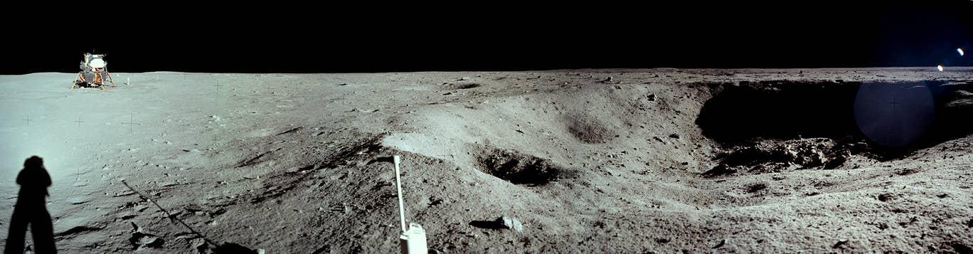 Foto panorámica del alunizaje (Foto: NASA)