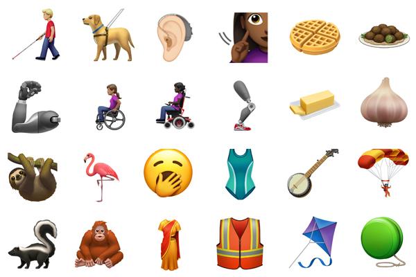 Estos son algunos de los nuevos emojis que estarán disponibles en los próximos meses. (Foto: Apple)
