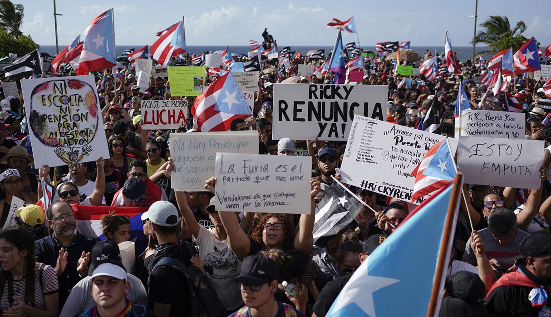 Las protestas en Puerto Rico contra su gobernador, Ricardo Rosselló, afecta al turismo en San Juan. (Foto: AFP)